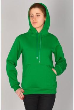 Green Color Hoodie Woman Classic Женская зеленая толстовка худи классическая 320гр/м.кв