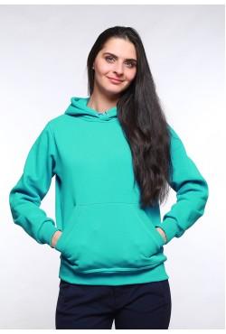 Mint Color Hoodie Woman Classic Женская ментоловая толстовка худи классическая 320гр/м.кв (мятный)