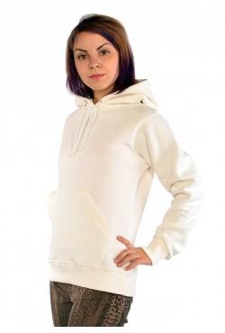 Ecru Color Hoodie Woman Classic Женская молочная толстовка худи классическая 320гр/м.кв(экрю)
