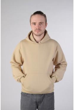 Beige Color Hoodie Man Classic Мужская бежевая толстовка худи классическая 320гр/м.кв