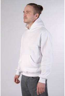 White Color Hoodie Man Classic Мужская белая толстовка худи классическая 320гр/м.кв