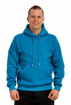 Turquoise Color Hoodie Man Classic Мужская бирюзовая толстовка худи классическая 320гр/м.кв