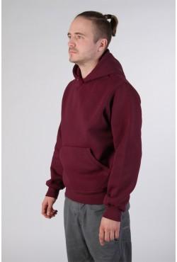 Burgundy Color Hoodie Man Classic Мужская бордовая толстовка худи классическая 320гр/м.кв