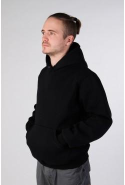 Black Color Hoodie Man Classic Мужская черная толстовка худи классическая 320гр/м.кв