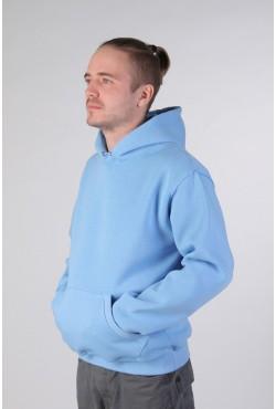 Blue Color Hoodie Man Classic Мужская голубая толстовка худи классическая 320гр/м.кв  (небесно-голубой)