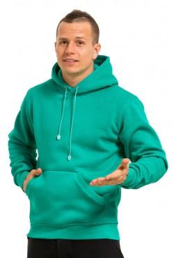 Emerald Color Hoodie Man Classic Мужская изумрудная толстовка худи классическая 320гр/м.кв