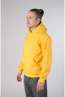 Yellow Color Hoodie Man Classic Мужская желтая толстовка худи классическая 320гр/м.кв