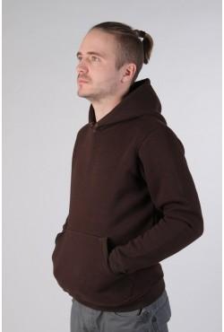 Brown Color Hoodie Man Classic Мужская коричневая толстовка худи классическая 320гр/м.кв
