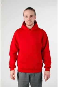 Red Color Hoodie Man Classic Мужская красная толстовка худи классическая 320гр/м.кв