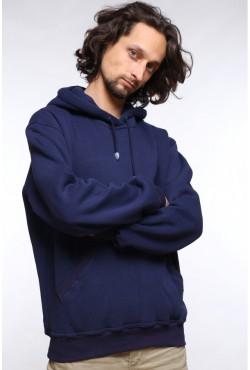 Navy Color Hoodie Man Classic Мужская темно-синяя толстовка худи классическая 320гр/м.кв