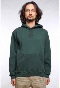 Dark Green Color Hoodie Man Classic Мужская темно-зеленая толстовка худи классическая 320гр/м.кв