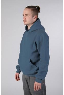 Indigo Color Hoodie Man Classic Мужская толстовка индиго худи классическая 320гр/м.кв (серо-голубой)