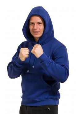 Blue Color Hoodie Man Classic Мужская синяя (василек) толстовка худи классическая 320гр/м.кв