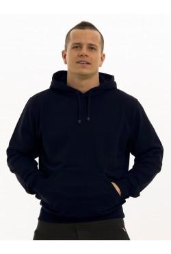 Мужская темно-синяя летняя толстовка с капюшоном (тонкая)