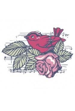 Толстовка, свитшот, футболка с принтом «Bird song»