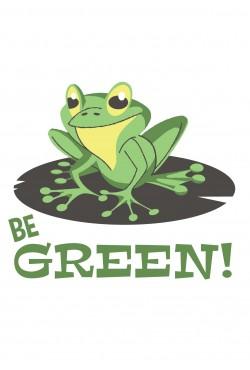 Толстовка Be green, свитшот Be green, футболка Be green (с лягушкой)