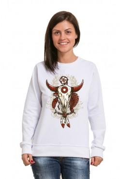 Толстовка, свитшот, футболка c Черепом быка 2.0