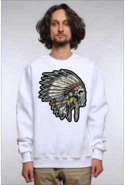 Толстовка, свитшот, футболка c Черепом индейца