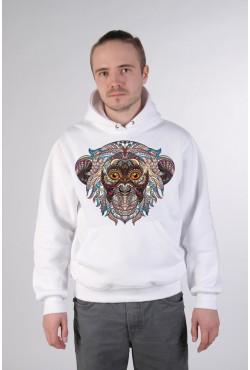 Etno monkey Толстовка, свитшот, футболка с Обезьяной