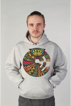 Этнические толстовки с котом, этнические свитшоты с котом,этнические футболки с котом