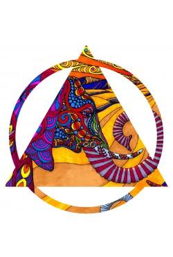 """Оверсаз-худи, толстовка ,свитшот, футболка, сумка """"шоппер"""" с Треугольником - Этнический слон"""