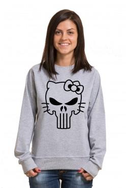 "Толстовка, свитшот, футболка с принтом Череп Hallo Kitty"""