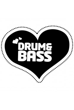 Толстовка I love Drum and bass, свитшот I love Drum and bass, футболка I love Drum and bass