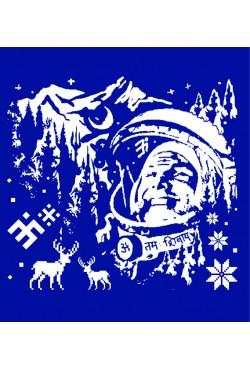 Новогодняя Толстовка, свитшот, футболка с Космонавтом
