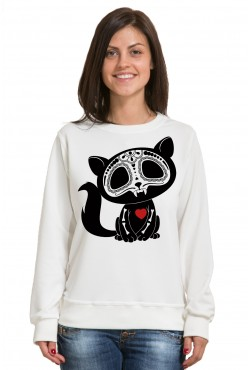 Толстовка, свитшот, футболка Кот с сердцем