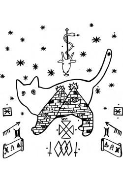 """Толстовка, свитшот, футболка c новогодним принтом """"Кот в пирамидах"""""""