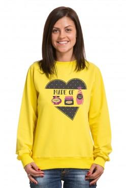 Толстовка, свитшот, футболка для девушек Made of...