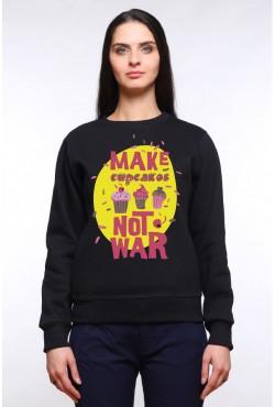 Толстовка, свитшот, футболка Make cupсakes not war