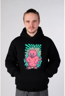 Толстовка с медведем, свитшот с медведем, футболка с медведем