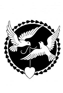 Cвитшот, Толстовка, футболка в подарок к 14 февраля с птицами