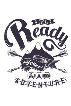 Толстовка, свитшот или футболка с принтом Готов к приключениям
