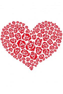 Cвитшот «Сердце из роз», Толстовка «Сердце из роз», футболка «Сердце из роз»