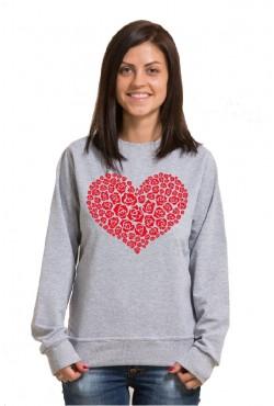 Cвитшот Сердце из роз, Толстовка Сердце из роз, футболка Сердце из роз