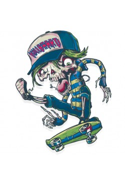 Толстовка, свитшот, футболка с принтом «Скейтер killboard»