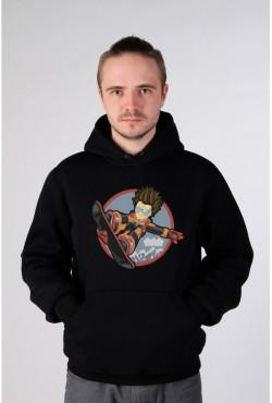 Толстовка со сноубордистом, свитшот со сноубордистом, футболка со сноубордистом