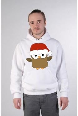 Cвитшот Сова Дед Мороз, толстовка Сова Дед Мороз, футболка Сова Дед Мороз