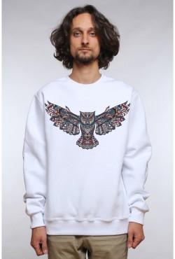 Толстовка, свитшот, футболка Сова с расправленными крыльями