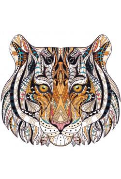 Толстовка, свитшот, футболка с Тигром в этническом стиле