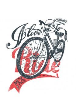 Толстовка, свитшот, футболка с Велосипедом