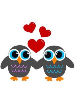 Cвитшот Влюбленные Совушки, Толстовка Влюбленные Совушки, футболка Влюбленные Совушки