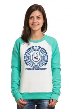 Свитшот двуцветный женский Финансовый университет