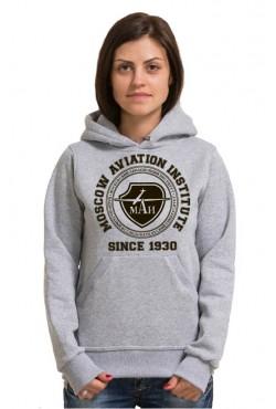 Толстовка с капюшоном МАИ Московский авиационный институт (25 цветов на выбор)