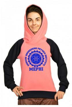 Толстовка двуцветная мужская с капюшоном МИФИ