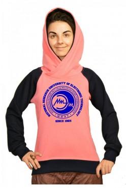 Толстовка двуцветная мужская с капюшоном МИЭТ Национальный исследовательский университет