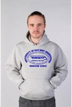 Толстовка с капюшоном МИИТ Московский государственный университет путей сообщения (25 цветов на выбор)