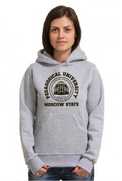 Толстовка с капюшоном МПГУ Московский Педагогический Государственный Университет (25 цветов на выбор)